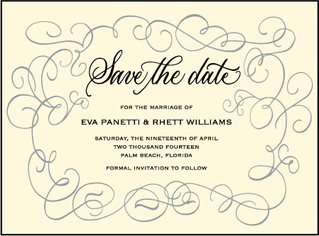 Revival Calligraphy Letterpress Save The Date Design Medium