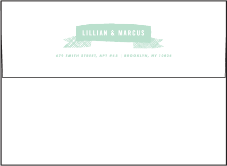 Ribbon Letterpress Envelope Design Medium
