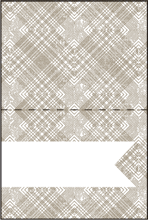 Ribbon Letterpress Placecard Fold Design Medium