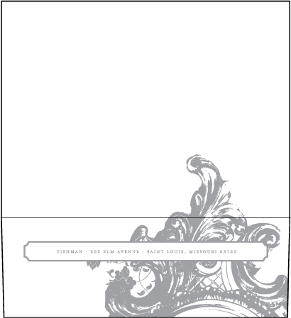 Rococo Elegance Letterpress Envelope Design Medium