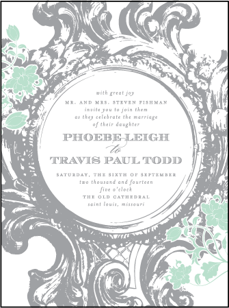 Rococo Elegance Letterpress Invitation Design Medium