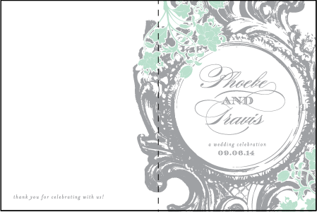 Rococo Elegance Letterpress Program Design Medium