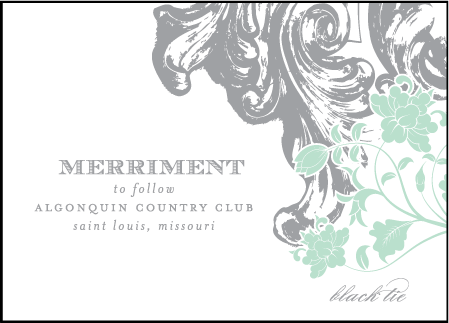 Rococo Elegance Letterpress Reception Design Medium