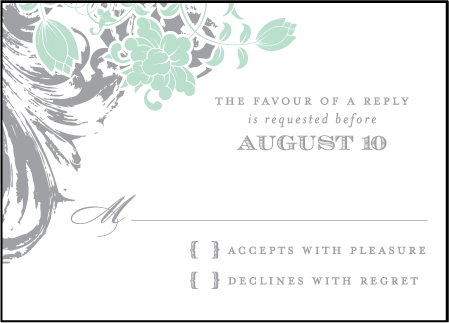 Rococo Elegance Letterpress Reply Design Medium