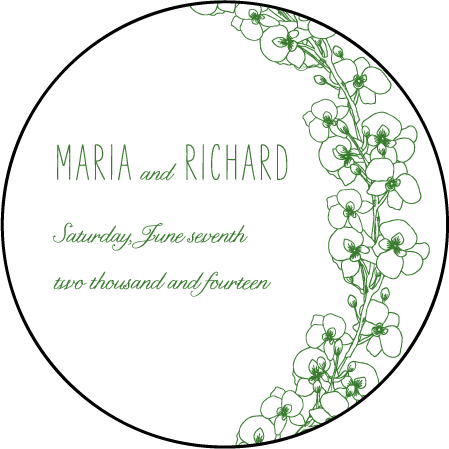 Romantic Floral Letterpress Coaster Design Medium
