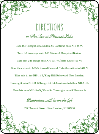 Romantic Floral Letterpress Direction Design Medium