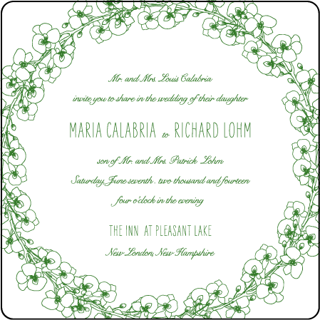 Romantic Floral Letterpress Invitation Design Medium