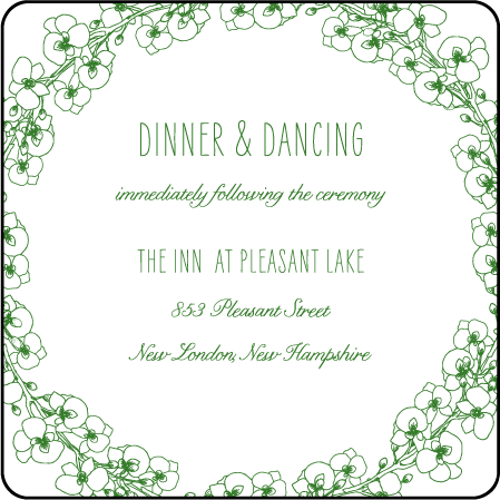 Romantic Floral Letterpress Reception Design Medium