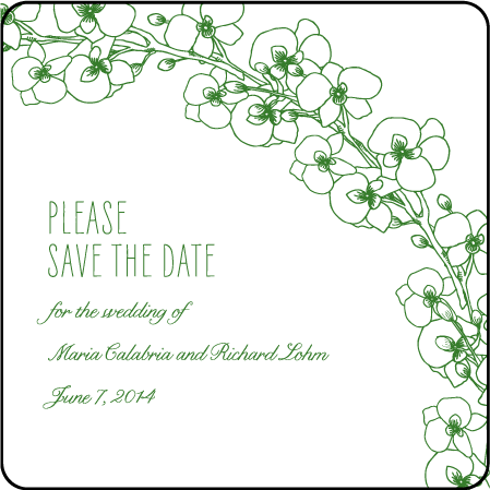 Romantic Floral Letterpress Save The Date Design Medium