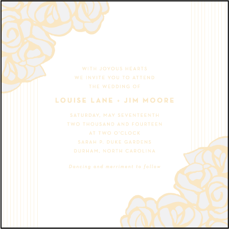 Rose Letterpress Invitation Design Medium
