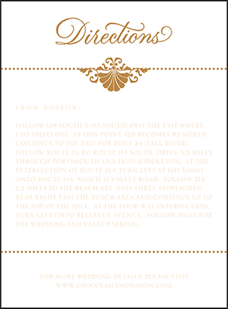 Rosecliff Letterpress Direction Design Medium