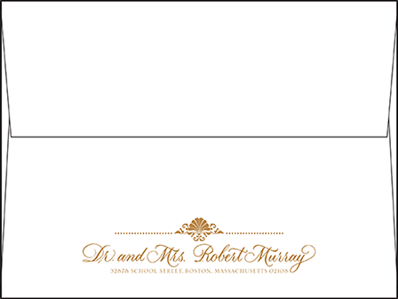 Rosecliff Letterpress Envelope Design Medium