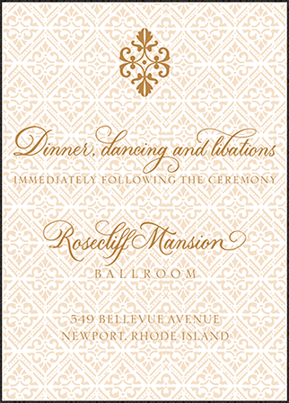 Rosecliff Letterpress Reception Design Medium