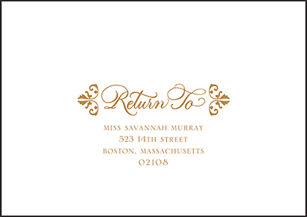Rosecliff Letterpress Reply Envelope Design Medium