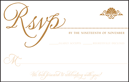 Rosecliff Letterpress Reply Postcard Front Design Medium