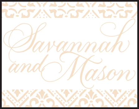 Rosecliff Letterpress Stamp Design Medium