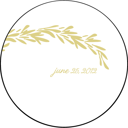 Rosemary Letterpress Coaster Design Medium