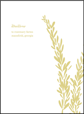 Rosemary Letterpress Direction Design Medium