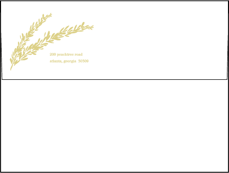 Rosemary Letterpress Envelope Design Medium