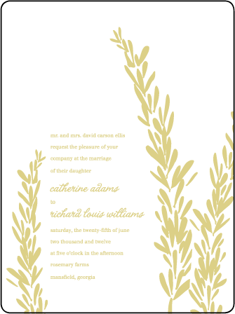 Rosemary Letterpress Invitation Design Medium