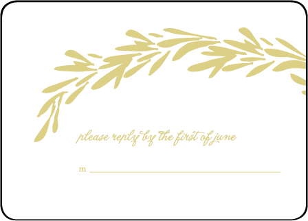 Rosemary Letterpress Reply Design Medium