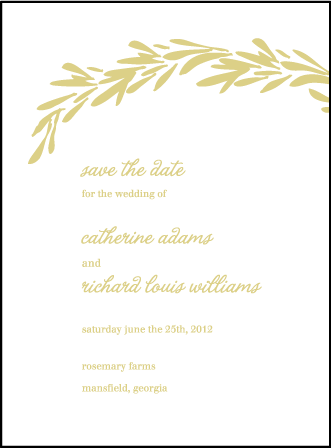 Rosemary Letterpress Save The Date Design Medium
