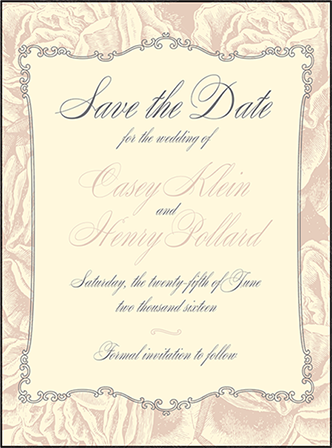 Roslyn Frame Letterpress Save The Date Design Medium