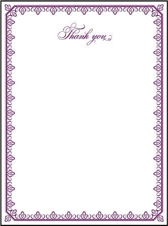 Royal Frame Letterpress Thank You Card Flat Design Medium