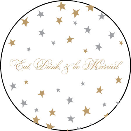 Royal Night Letterpress Coaster Design Medium