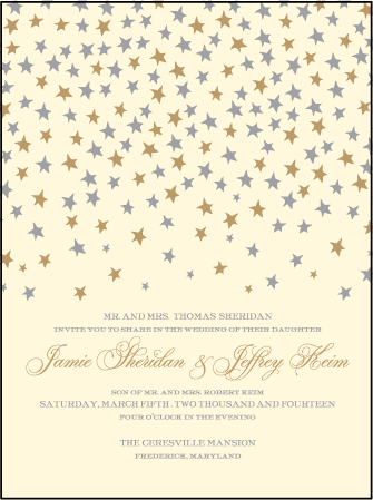 Royal Night Letterpress Invitation Design Medium