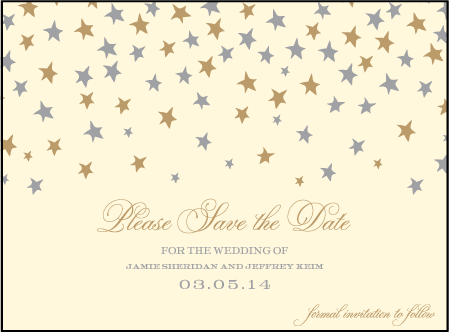 Royal Night Letterpress Save The Date Design Medium