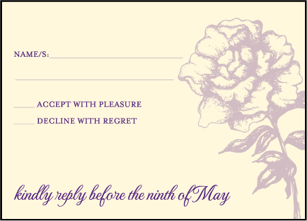 Royal Peony Letterpress Reply Design Medium