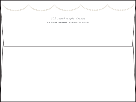 Royal Valance Letterpress Envelope Design Medium