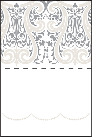 Royal Valance Letterpress Placecard Fold Design Medium