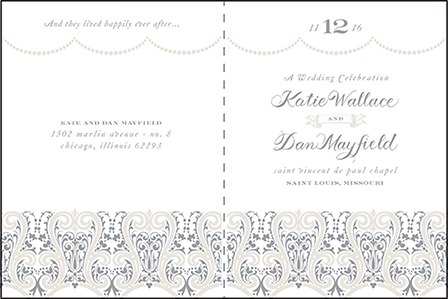 Royal Valance Letterpress Program Design Medium