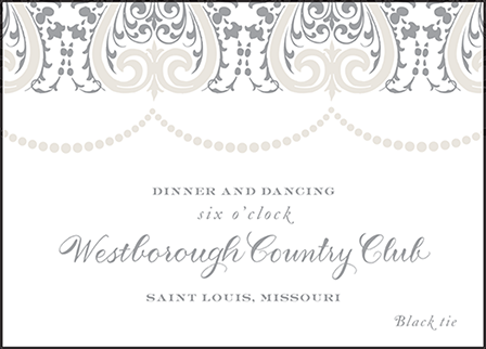 Royal Valance Letterpress Reception Design Medium