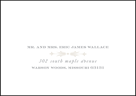 Royal Valance Letterpress Reply Envelope Design Medium