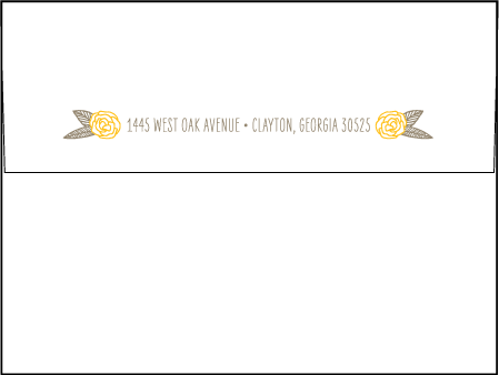 Rustic Jolene Letterpress Envelope Design Medium
