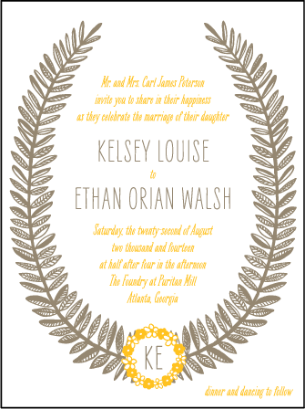 Rustic Jolene Letterpress Invitation Design Medium