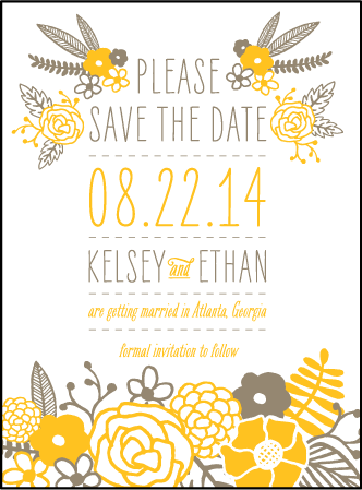 Rustic Jolene Letterpress Save The Date Design Medium