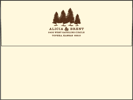 Rustic Lookout Letterpress Envelope Design Medium
