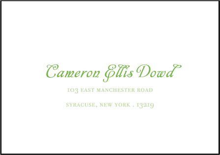 Rustic Summer Letterpress Reply Envelope Design Medium