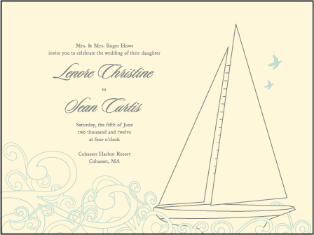Sailboat Letterpress Invitation Design Medium