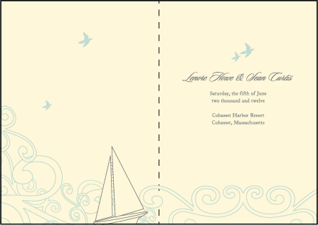 Sailboat Letterpress Program Design Medium
