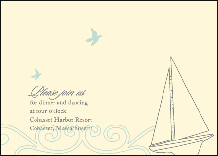 Sailboat Letterpress Reception Design Medium
