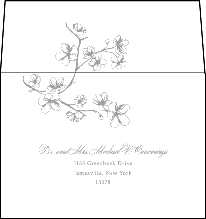 Sakura Letterpress Reply Envelope Design Medium