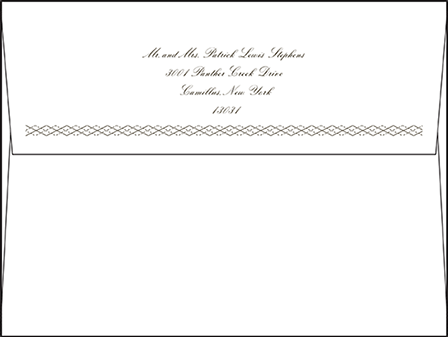 Sampler Letterpress Envelope Design Medium