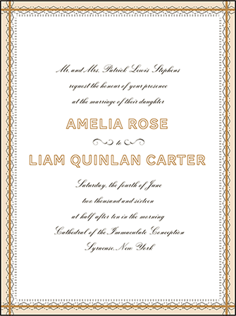 Sampler Letterpress Invitation Design Medium
