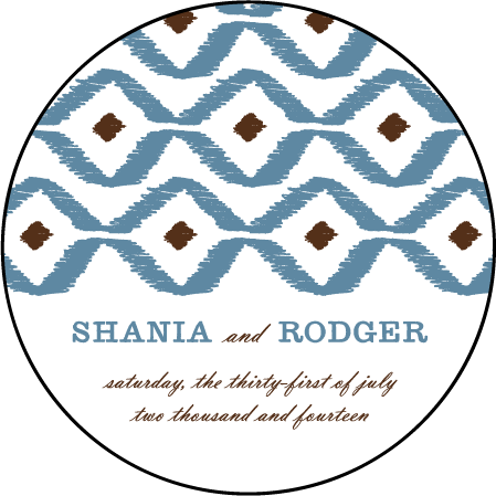 Santa Fe Letterpress Coaster Design Medium