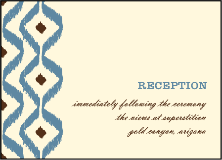 Santa Fe Letterpress Reception Design Medium